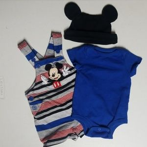 Disney Baby Shorts Overall Set